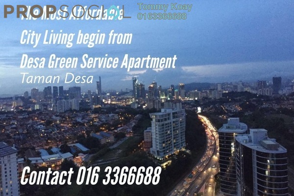 Serviced Residence For Rent in Desa Green Serviced Apartment, Taman Desa Freehold Fully Furnished 2R/2B 2k