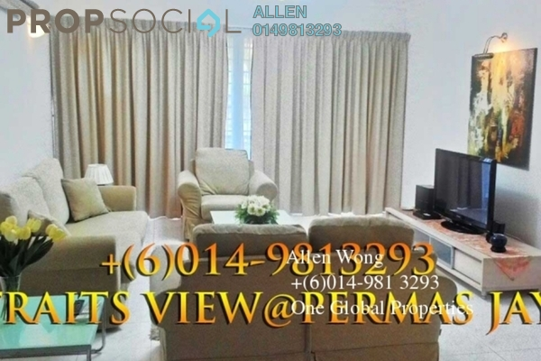 Condominium For Rent in Straits View Condominium, Bandar Baru Permas Jaya Freehold fully_furnished 3R/3B 2.8k
