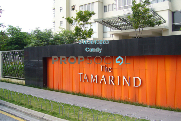 Condominium For Sale in The Tamarind, Sentul Freehold Semi Furnished 3R/2B 599k
