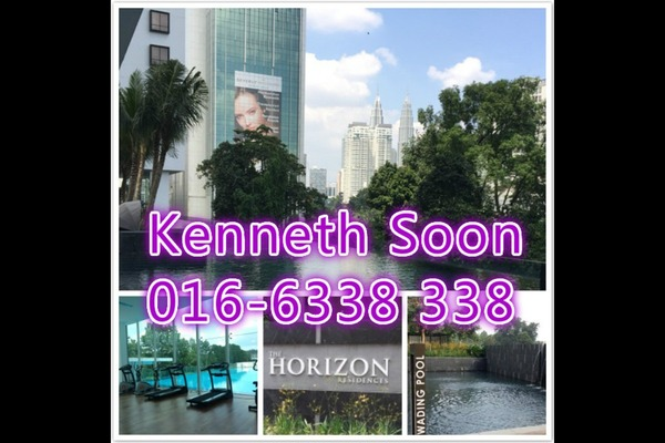 Condominium For Sale in The Horizon Residences, KLCC Freehold Fully Furnished 2R/2B 1.15m