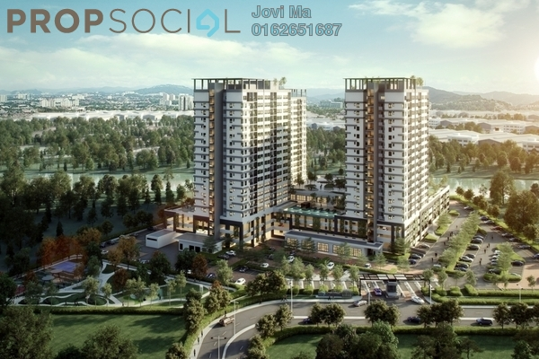 Condominium For Sale in The Greens @ Subang West, Shah Alam Freehold Semi Furnished 3R/2B 488k