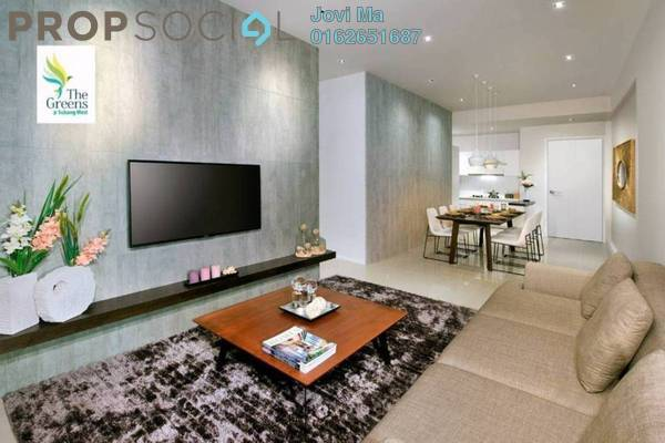 Condominium For Sale in The Greens @ Subang West, Shah Alam Freehold Semi Furnished 3R/2B 489k
