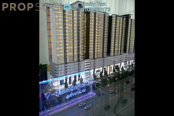 Condominium For Sale in V-Residensi 2, Shah Alam Freehold Semi Furnished 3R/3B 548k