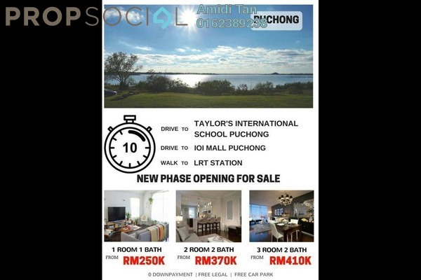 Condominium For Sale in Aurora Residence @ Lake Side City, Puchong Freehold Unfurnished 1R/1B 250k