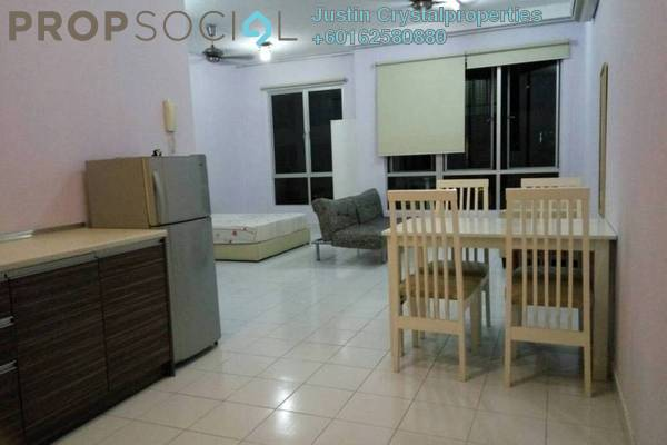 Condominium For Sale in Casa Tiara, Subang Jaya Leasehold Semi Furnished 1R/1B 350k