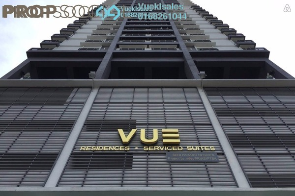 Serviced Residence For Sale in Vue Residences, Titiwangsa Freehold Fully Furnished 2R/1B 560k