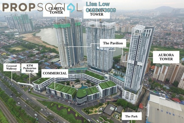 Condominium For Rent in EcoSky, Kuala Lumpur Freehold Semi Furnished 3R/2B 2.8k