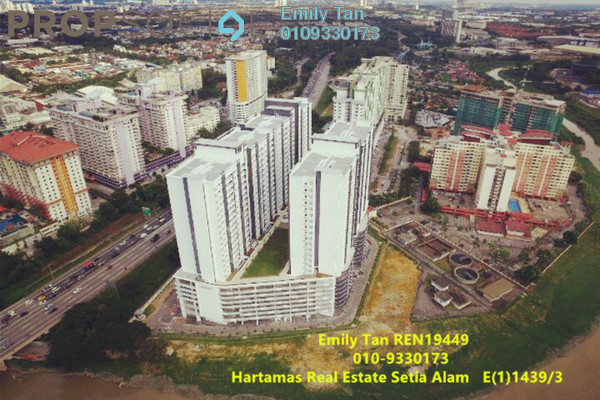 Condominium For Sale in V-Residensi 2, Shah Alam Freehold Semi Furnished 2R/2B 430k