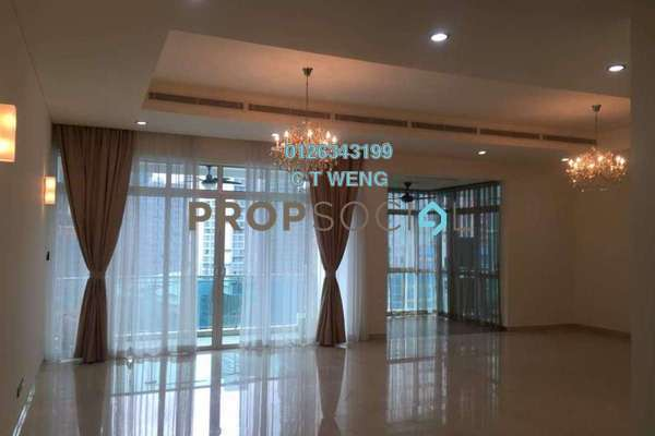 Condominium For Rent in The Pearl, KLCC Freehold Semi Furnished 3R/5B 7k