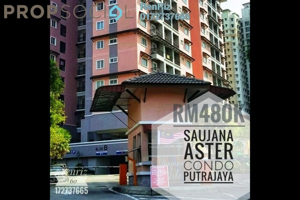 Condominium For Sale in Saujana Aster, Putrajaya Freehold Fully Furnished 3R/2B 480k