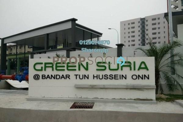 Condominium For Sale in Green Suria Apartment, Bandar Tun Hussein Onn Freehold Unfurnished 3R/2B 350k