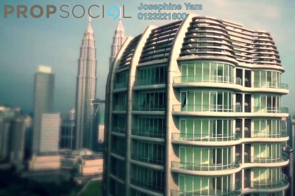 Condominium For Rent in The Oval, KLCC Freehold Semi Furnished 6R/7B 24k