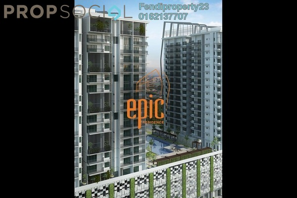 Condominium For Rent in Epic Residence, Bandar Bukit Puchong Freehold Fully Furnished 3R/2B 1.6k