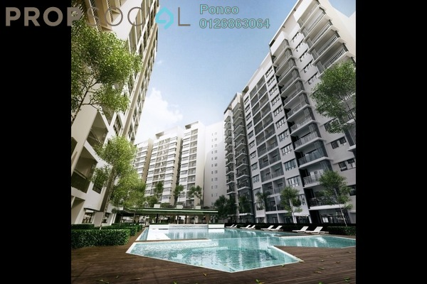 Serviced Residence For Sale in Suria Residence, Bukit Jelutong Freehold Semi Furnished 3R/2B 779k