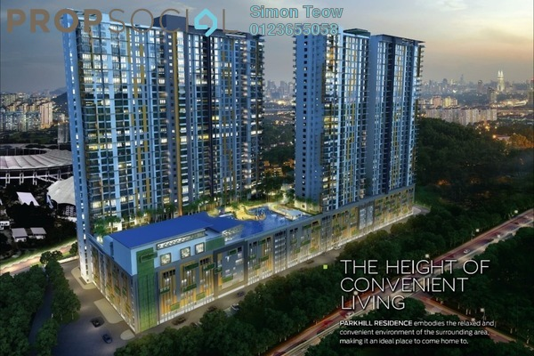 Condominium For Sale in Parkhill Residence, Bukit Jalil Leasehold Unfurnished 3R/2B 648k