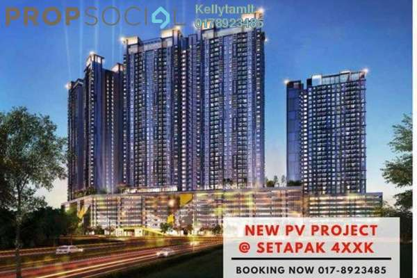 Condominium For Sale in PV18 Residence, Setapak Freehold Unfurnished 3R/2B 488k