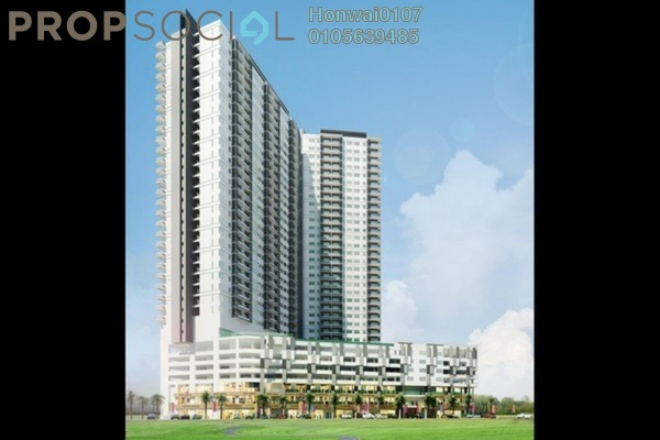 Condominium For Rent in Mercury Serviced Apartment @ Sentul Village, Sentul Freehold Semi Furnished 3R/2B 1.5k