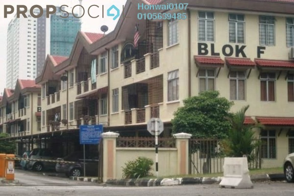 Apartment For Rent in Pinggiran Cempaka, Pandan Indah Freehold Semi Furnished 3R/2B 1.2k