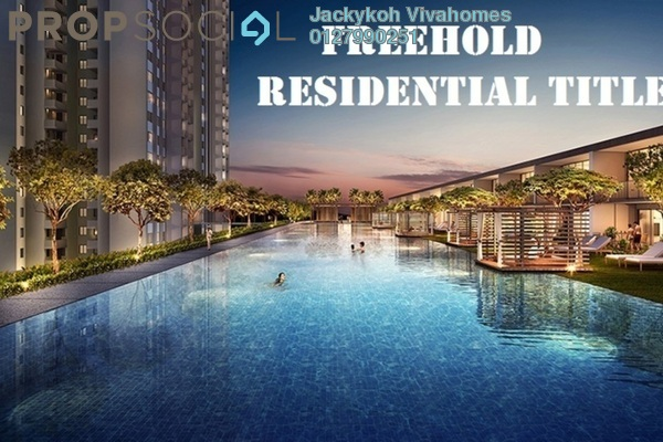 Condominium For Sale in Twin Palms, Bandar Sungai Long Freehold Unfurnished 3R/2B 360k