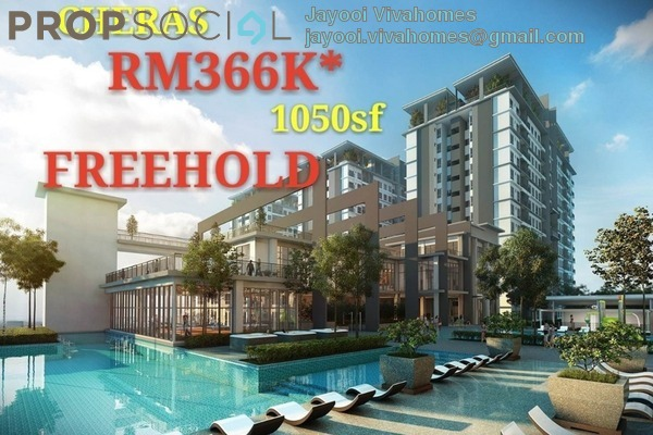 Condominium For Sale in Twin Palms, Bandar Sungai Long Freehold Unfurnished 3R/2B 366k