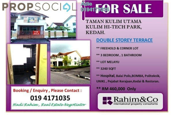 For Sale Terrace at Kulim Hi-Tech Park, Kulim Freehold Unfurnished 4R/3B 460k