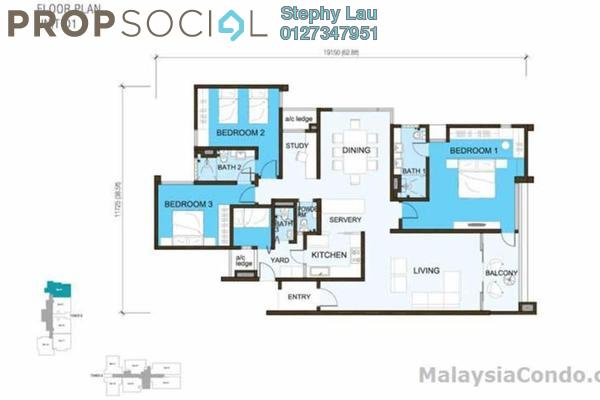Condominium For Sale in Sunway South Quay, Bandar Sunway Freehold Fully Furnished 4R/3B 1.3m