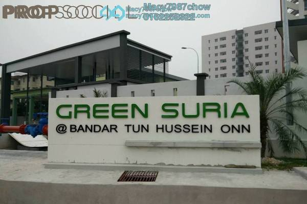 Apartment For Rent in Green Suria Apartment, Bandar Tun Hussein Onn Freehold Semi Furnished 3R/2B 950translationmissing:en.pricing.unit