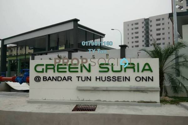 Condominium For Sale in Green Suria Apartment, Bandar Tun Hussein Onn Freehold Semi Furnished 3R/2B 373k