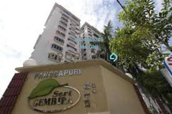 Apartment For Rent in Seri Gembira Apartment, Jalan Ipoh Freehold Semi Furnished 3R/2B 1.55k