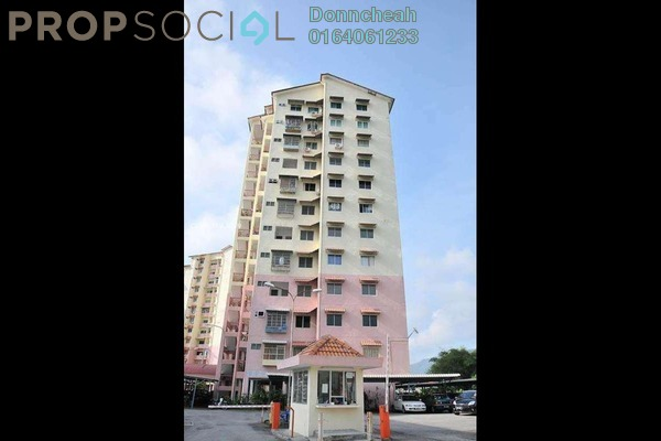Apartment For Rent in Menara Kuda Lari, Georgetown Freehold Semi Furnished 3R/2B 1.2k