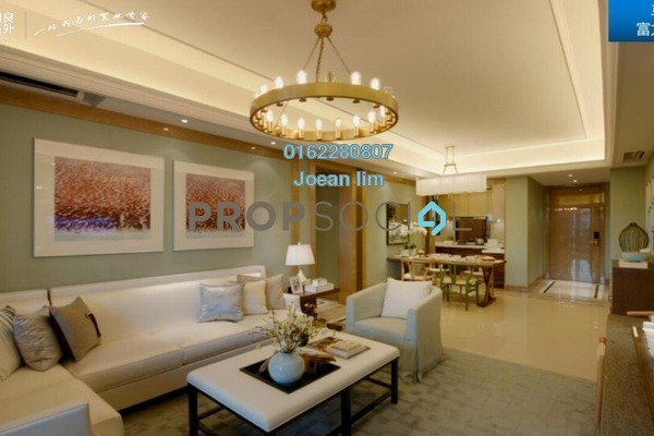 Serviced Residence For Sale in R&F Princess Cove, Johor Bahru Freehold Semi Furnished 3R/2B 1.2m