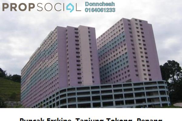 Condominium For Rent in Puncak Erskine, Tanjung Tokong Freehold Semi Furnished 3R/2B 750translationmissing:en.pricing.unit