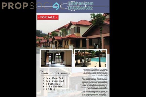 Semi-Detached For Sale in Duta Nusantara, Dutamas Freehold Unfurnished 6R/5B 4.5m