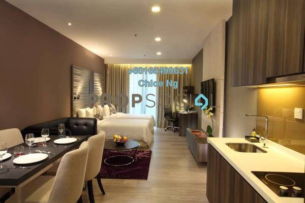 For Sale Serviced Residence at Dorsett Residences, Bukit Bintang Freehold Fully Furnished 1R/1B 1.1m
