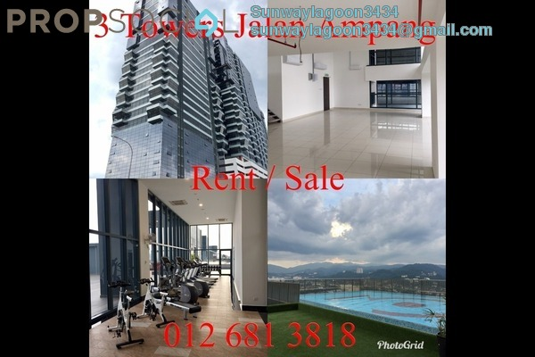 Duplex For Sale in 3 Towers, Ampang Hilir Freehold Semi Furnished 2R/2B 855k