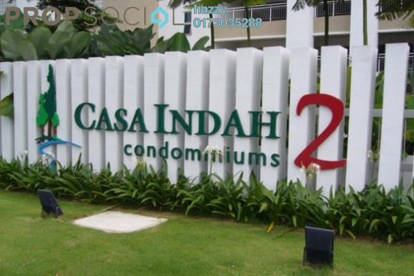 Condominium For Sale in Casa Indah 2, Tropicana Leasehold Fully Furnished 3R/3B 630k