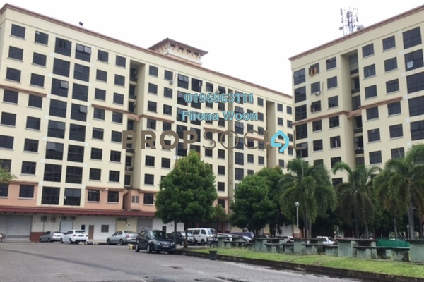 Apartment For Sale in Pangsapuri Bukit Beruang Utama, Bukit Beruang Freehold Semi Furnished 4R/2B 239k