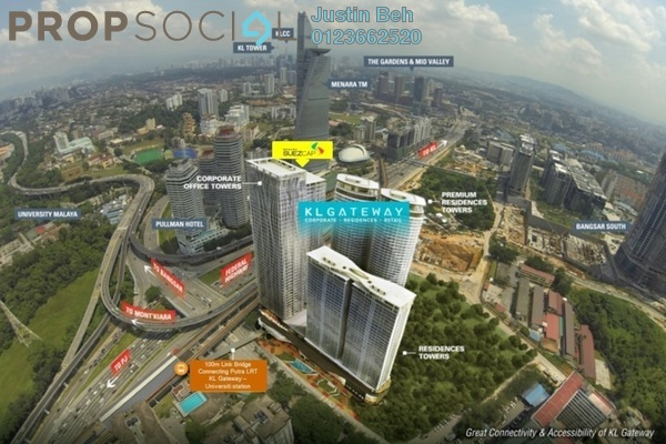 Office For Rent in KL Gateway, Bangsar South Freehold Semi Furnished 0R/0B 3.5k