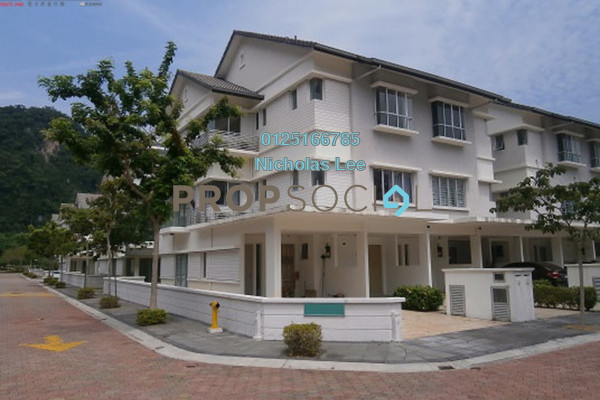 Townhouse For Rent in MontBleu Residence, Tambun Freehold Semi Furnished 0R/0B 2.5k