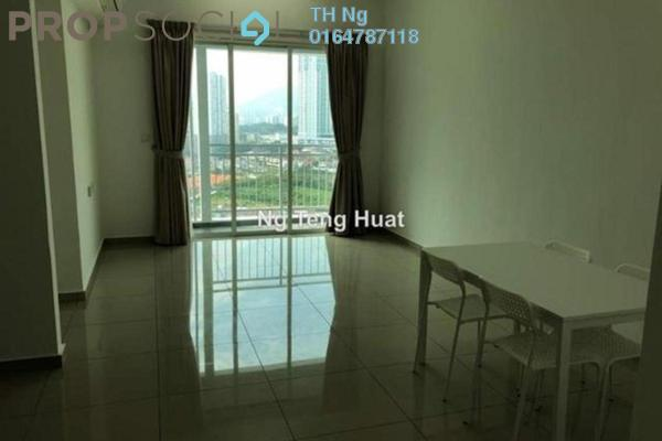 Serviced Residence For Rent in Solaria Residences, Sungai Ara Freehold Semi Furnished 3R/2B 1.1k