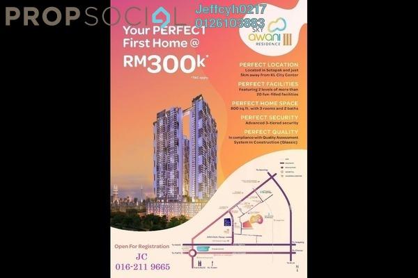 Condominium For Sale in SkyAwani, Sentul Freehold Unfurnished 3R/2B 300k