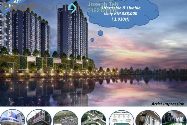 Condominium For Sale in LakeFront Residence, Cyberjaya Freehold Semi Furnished 3R/2B 396k