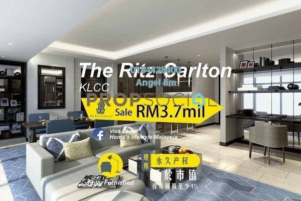 Condominium For Sale in The Ritz-Carlton Residences, KLCC Freehold Fully Furnished 2R/2B 3.7m