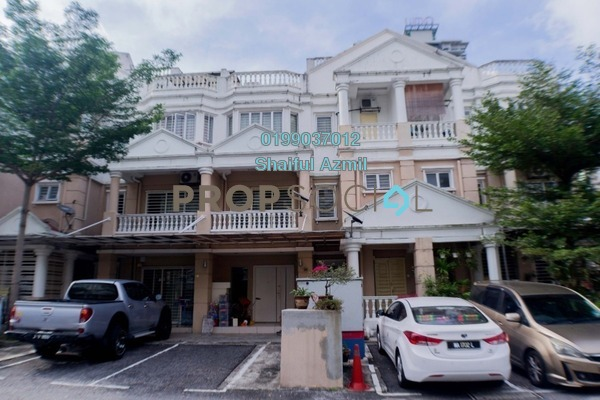 Townhouse For Sale in Sommerset Close, Bandar Sri Permaisuri Freehold Semi Furnished 3R/4B 750k