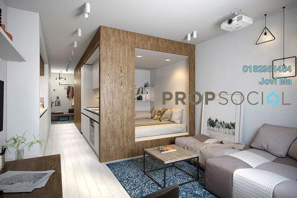 For Sale SoHo/Studio at Riveria City, Brickfields Leasehold Fully Furnished 1R/1B 285k