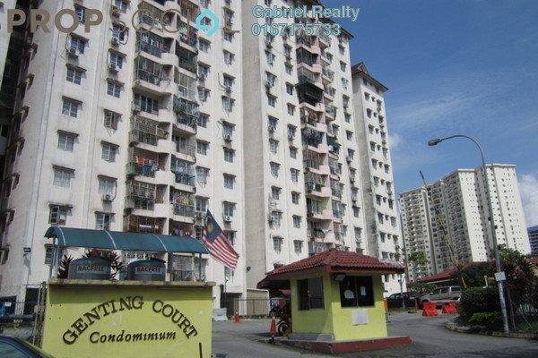 Condominium For Rent in Genting Court, Setapak Freehold Semi Furnished 3R/2B 1.3k