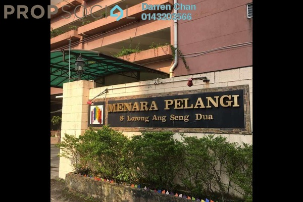 Condominium For Sale in Menara Pelangi, Brickfields Freehold Semi Furnished 3R/2B 645k