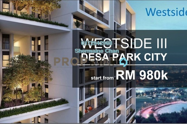 Condominium For Sale in The Westside Three, Desa ParkCity Freehold Semi Furnished 2R/2B 980k