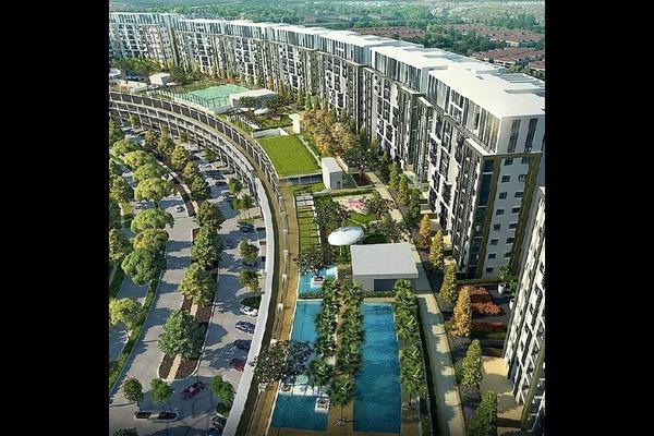 For Rent Condominium at Radia Residences, Bukit Jelutong Freehold Semi Furnished 2R/2B 1.6k