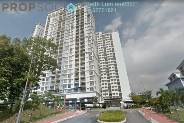 Condominium For Rent in Suasana Lumayan, Bandar Sri Permaisuri Freehold Semi Furnished 3R/2B 18k